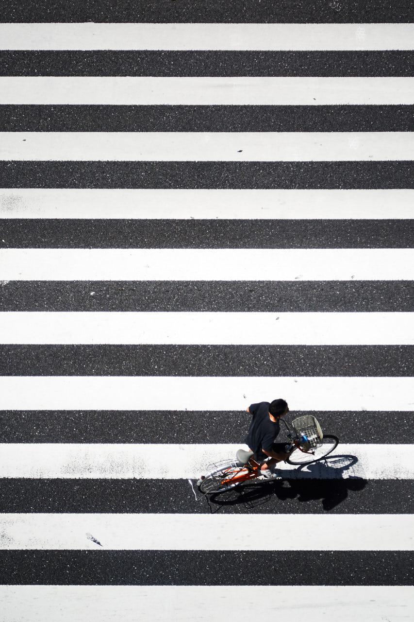 Un vélo traverse