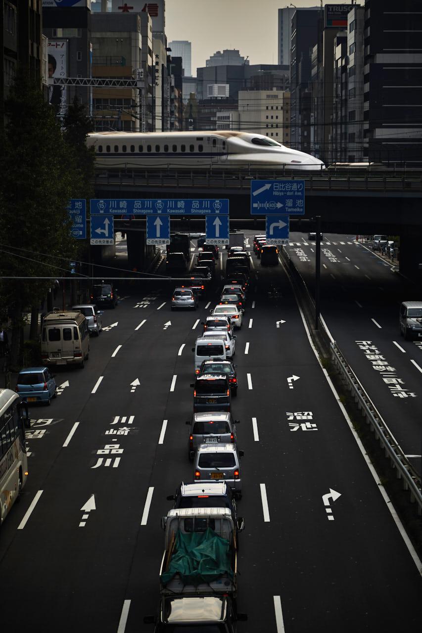 Shinkansen dans tokyo