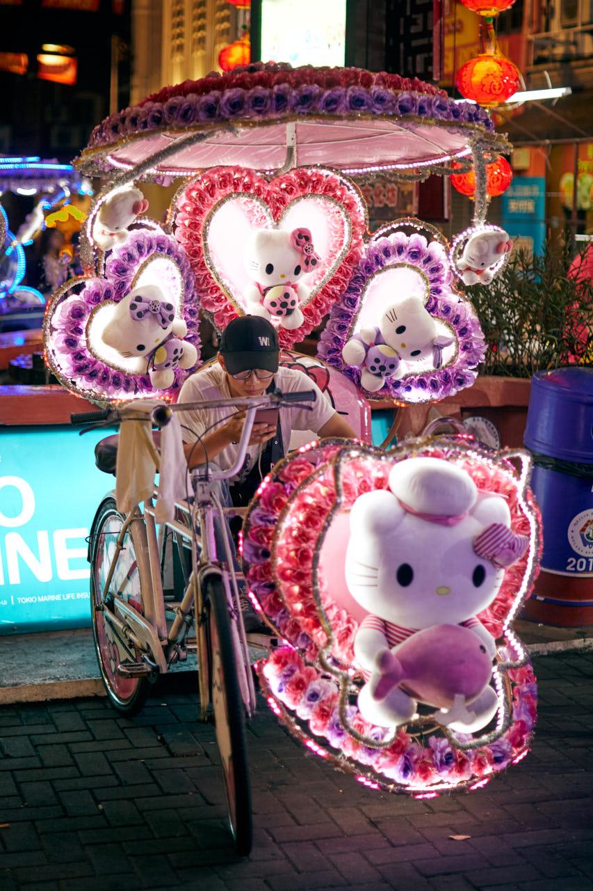 Un Vélo Taxi à Malaka