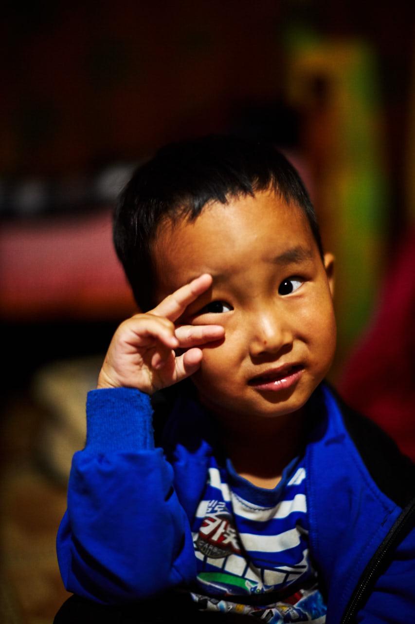portrait d'un enfant Mongol