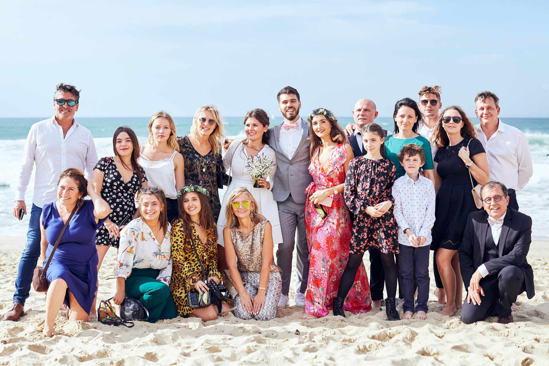 photo groupe plage