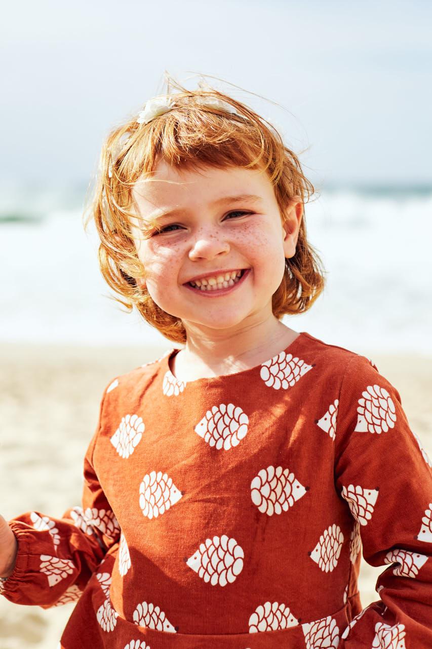 Portrait enfant plage