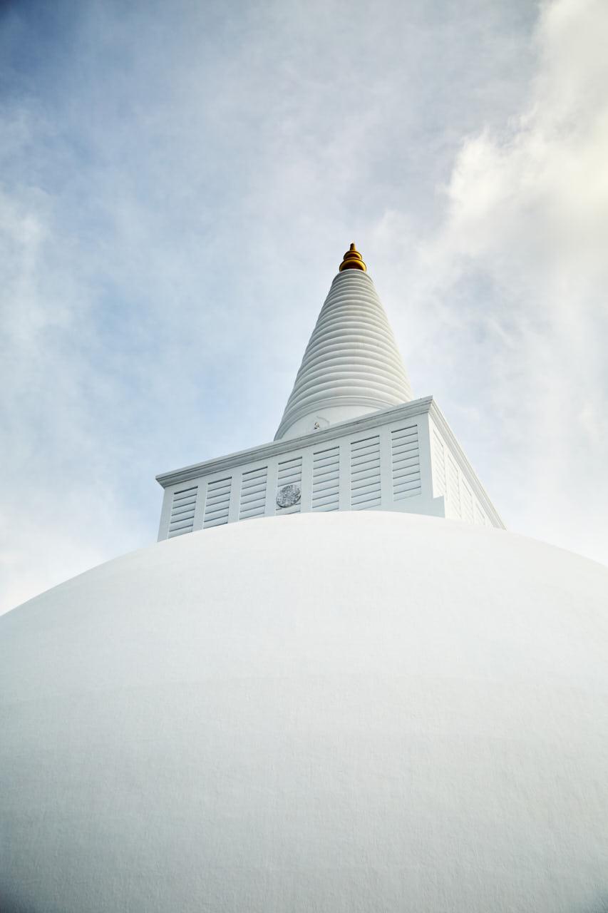Le sommet d'une stupa