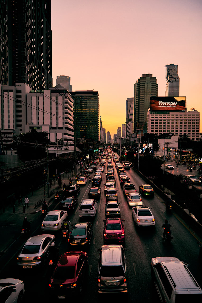 Des bouchons à Bangkok