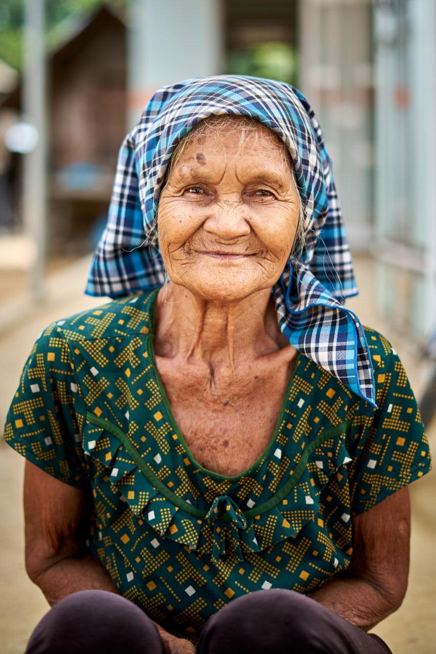 Portrait d'une femme âgée
