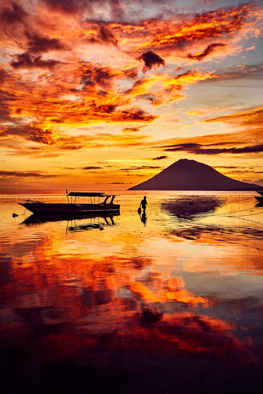 Le volcan de Bunaken