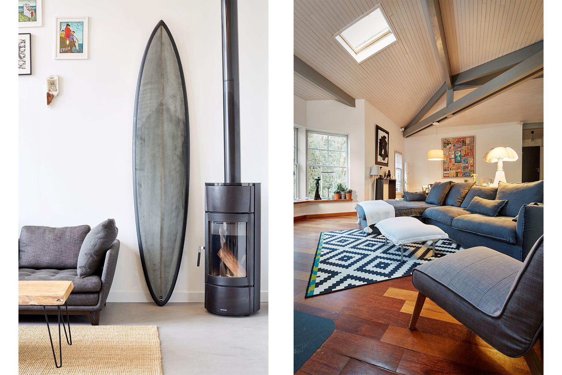 intérieur maison capbreton surf