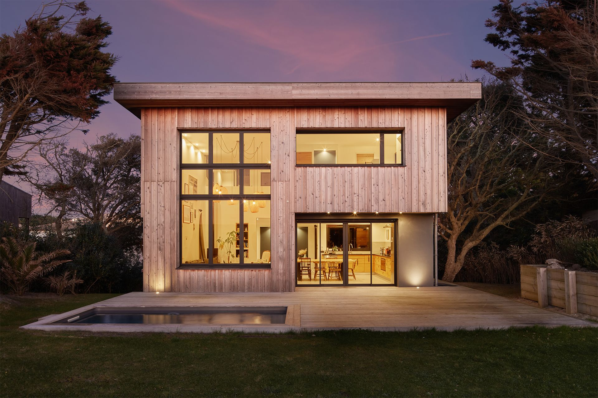 maison bois capbreton sunset